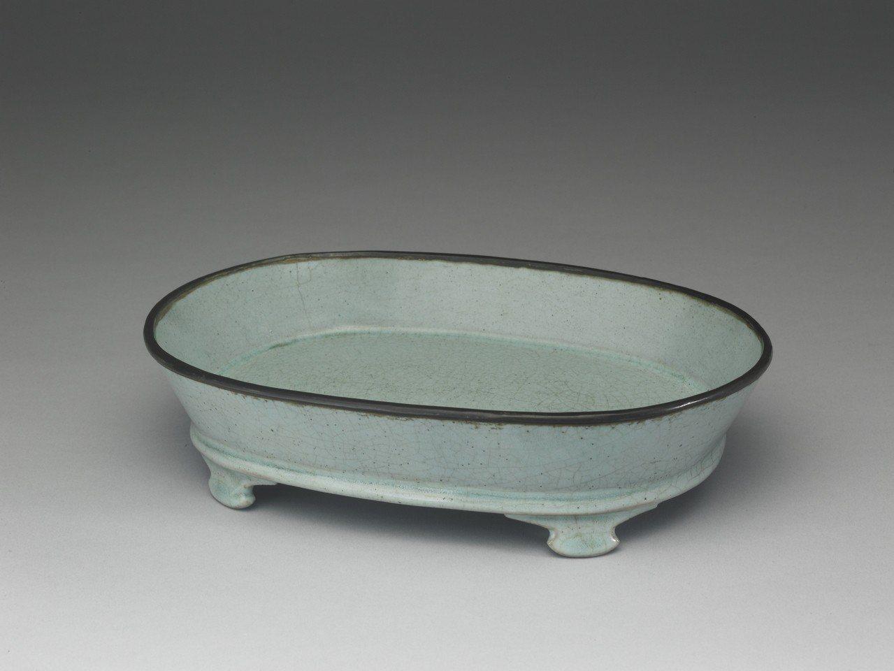 北宋汝窯,青瓷水仙盆。圖/故宮提供