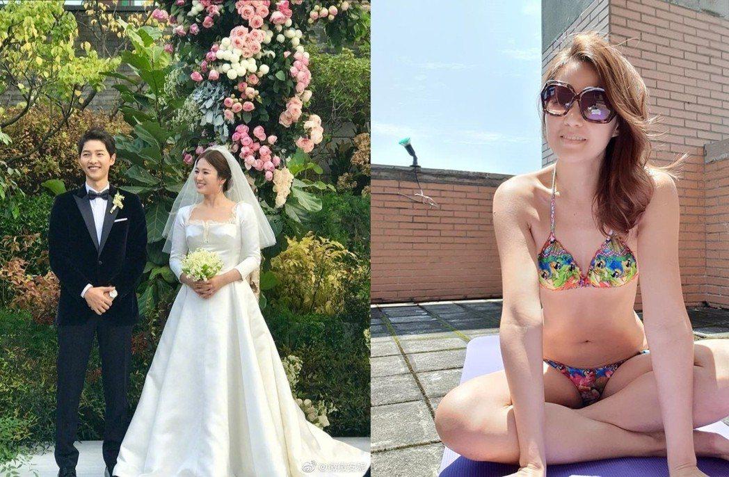 欣西亞(右)點出雙宋離婚的殘酷真相。圖/摘自微博、臉書