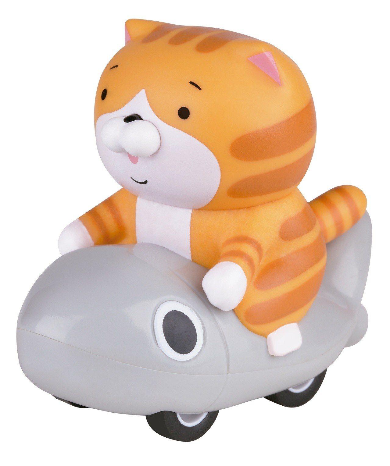 白爛貓「最愛那條魚迴力車」魚飆車款,7月17日起第二波推出,限量10萬台。圖/全...