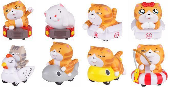 全家便利商店與白爛貓獨家合作,7月3日起分兩波段推出8款限量超耍賤迴力車,購買任...