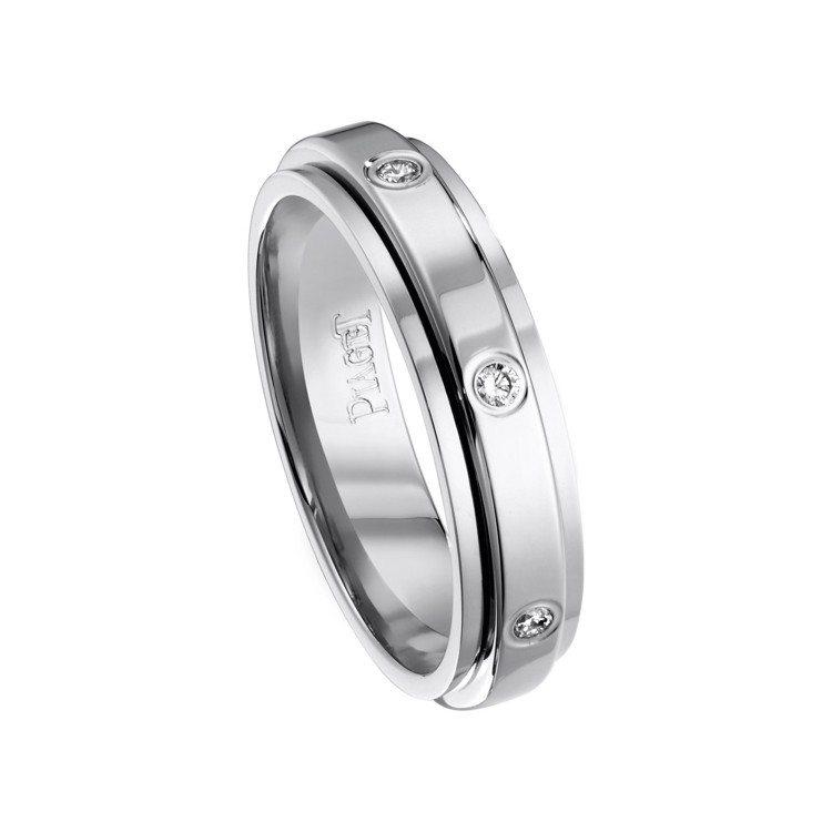 PIAGET Possession系列18K白金鑽石指環,81,000元。圖/伯...