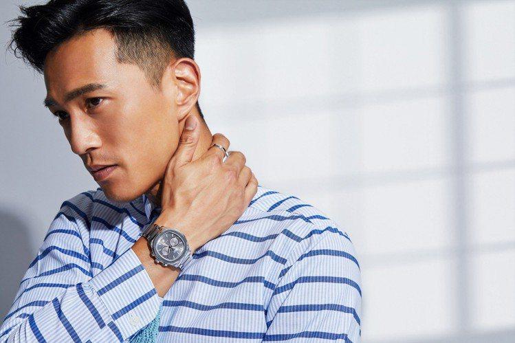 鍾承翰配戴PIAGET Polo S系列精鋼計時腕表及Possession系列1...