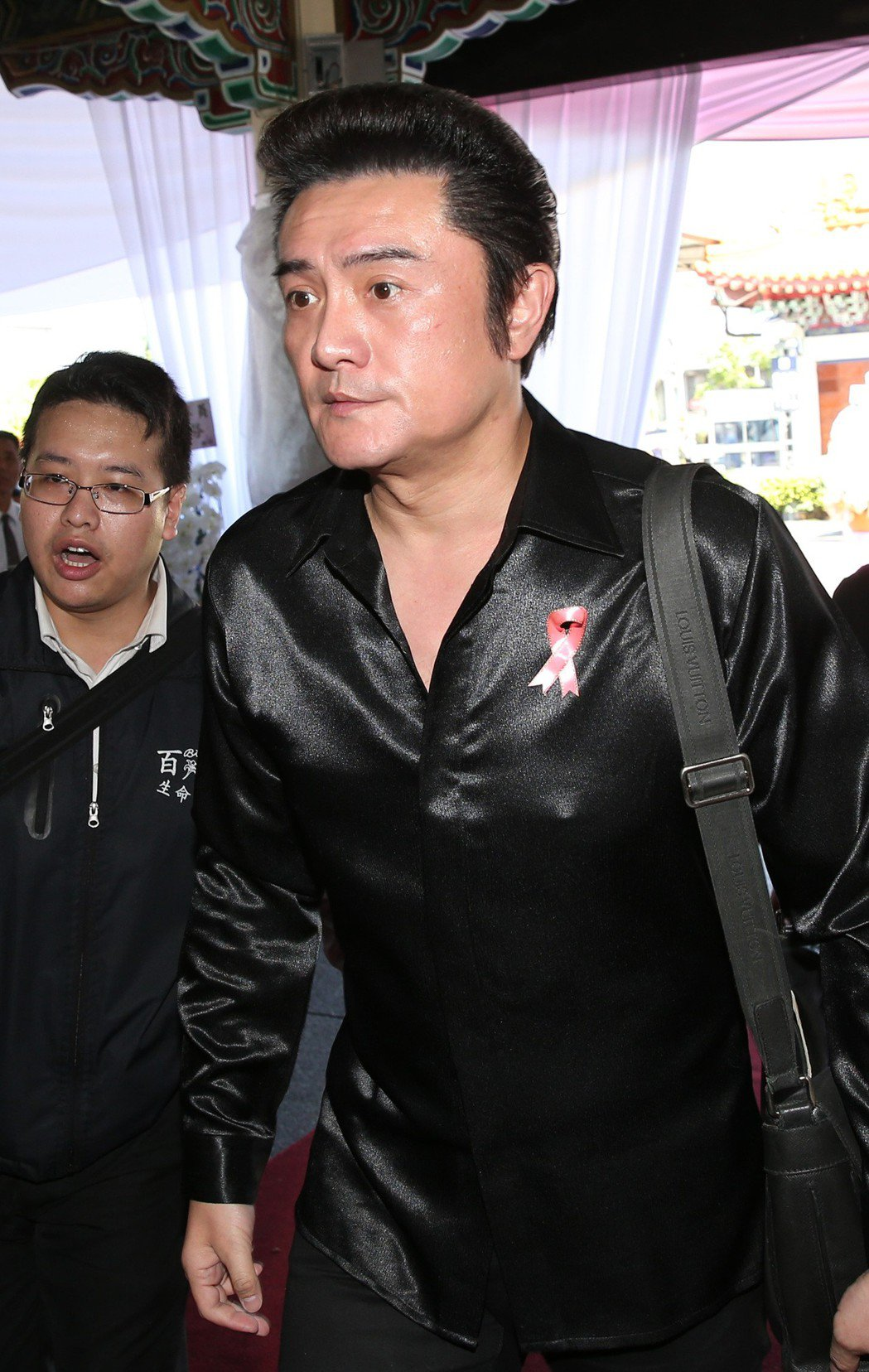 李㼈出席告別式。記者林澔一/攝影