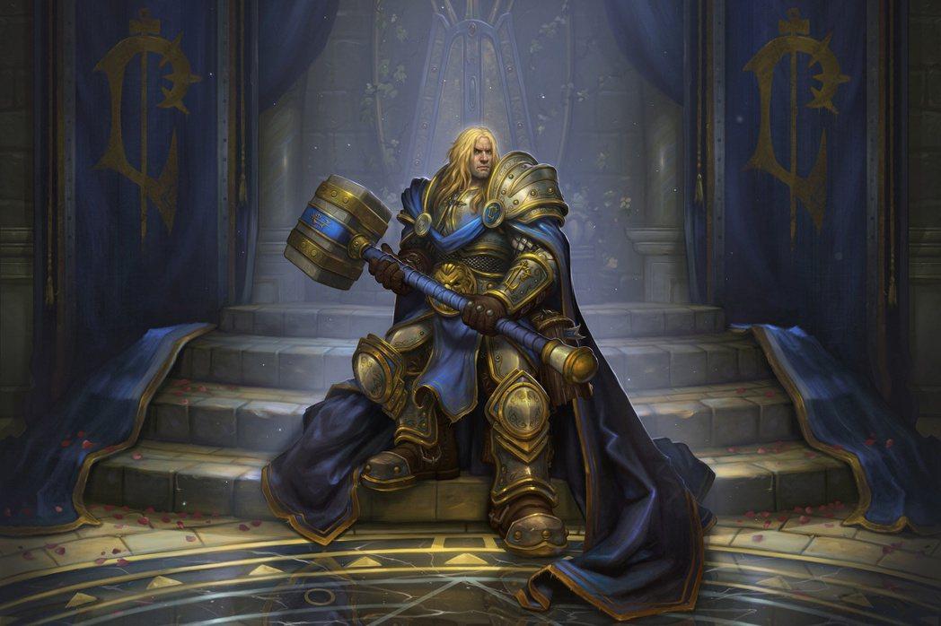 《爐石戰記》中的聖騎士英雄頭像,阿薩斯原圖