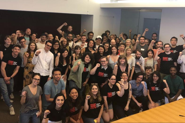 2019年6月,VOX媒體工會贏得豐碩成果,資方同意大幅提高員工底薪等條款。 圖...