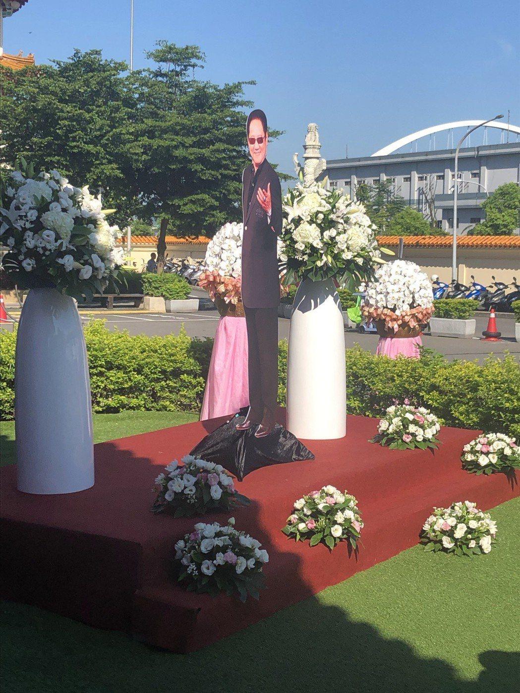 馬如龍告別式於板橋殯儀館景福廳舉行。記者陳建嘉攝