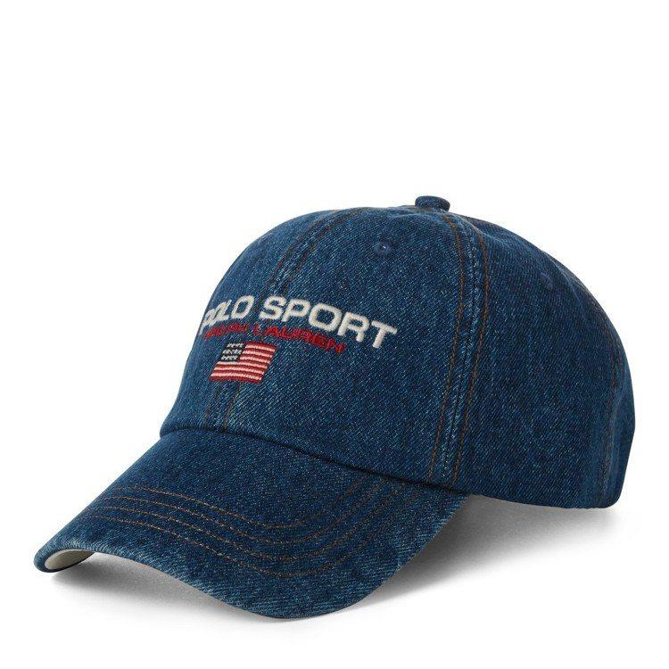 Polo Sport Denim經典棒球帽,價格店洽。圖/Polo Ralph ...