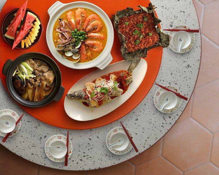 7月11日至8月8日期間,「丰禾日麗」推出多道經典台式辦桌菜。圖/王品提供