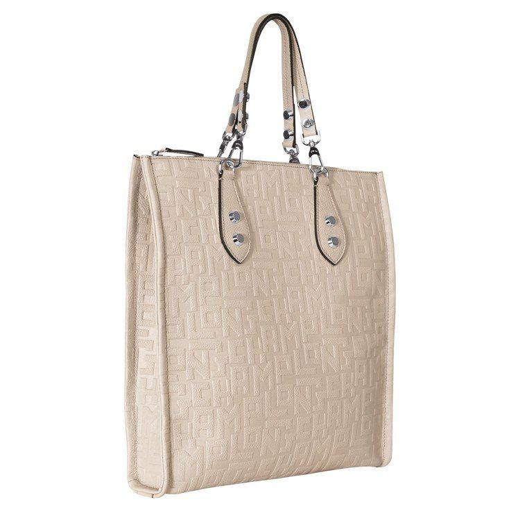 La Voyageuse LGP黏土色直式托特包,售價43,100元。圖/LON...