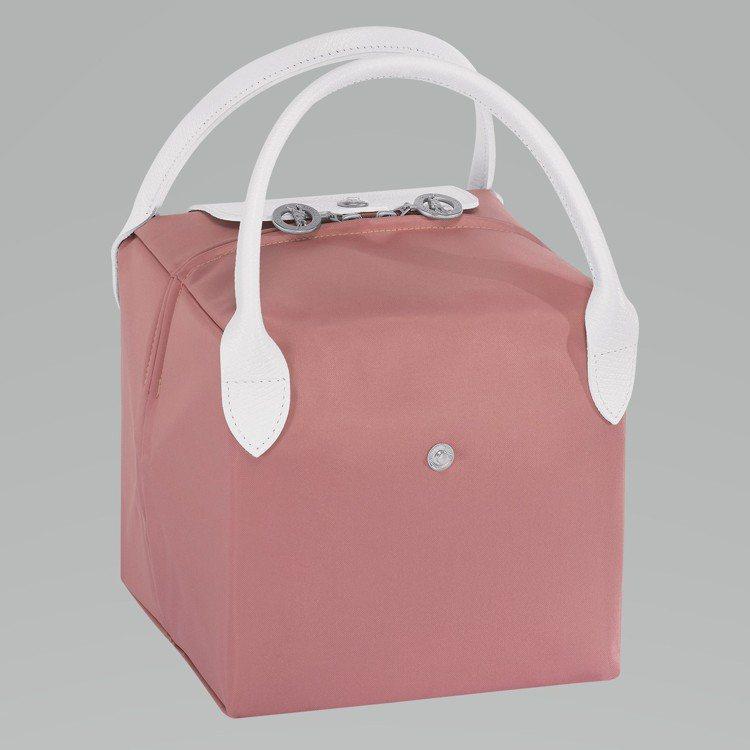 LONGCHAMP x NENDO粉紅色小型立方體手袋,售價5,400元。圖/L...