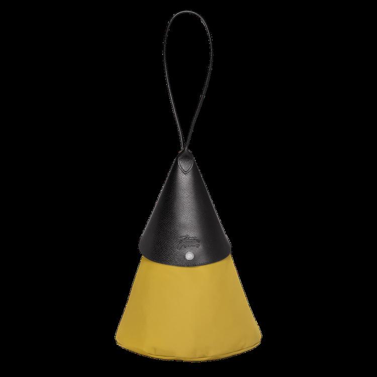 LONGCHAMP x NENDO大型芥末色三角錐手袋,售價5,400元。圖/L...