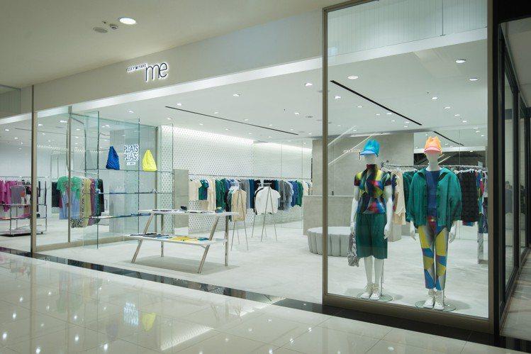me ISSEY MIYAKE新光三越台南新天地店鋪有明亮簡約的設計。圖/三宅一...