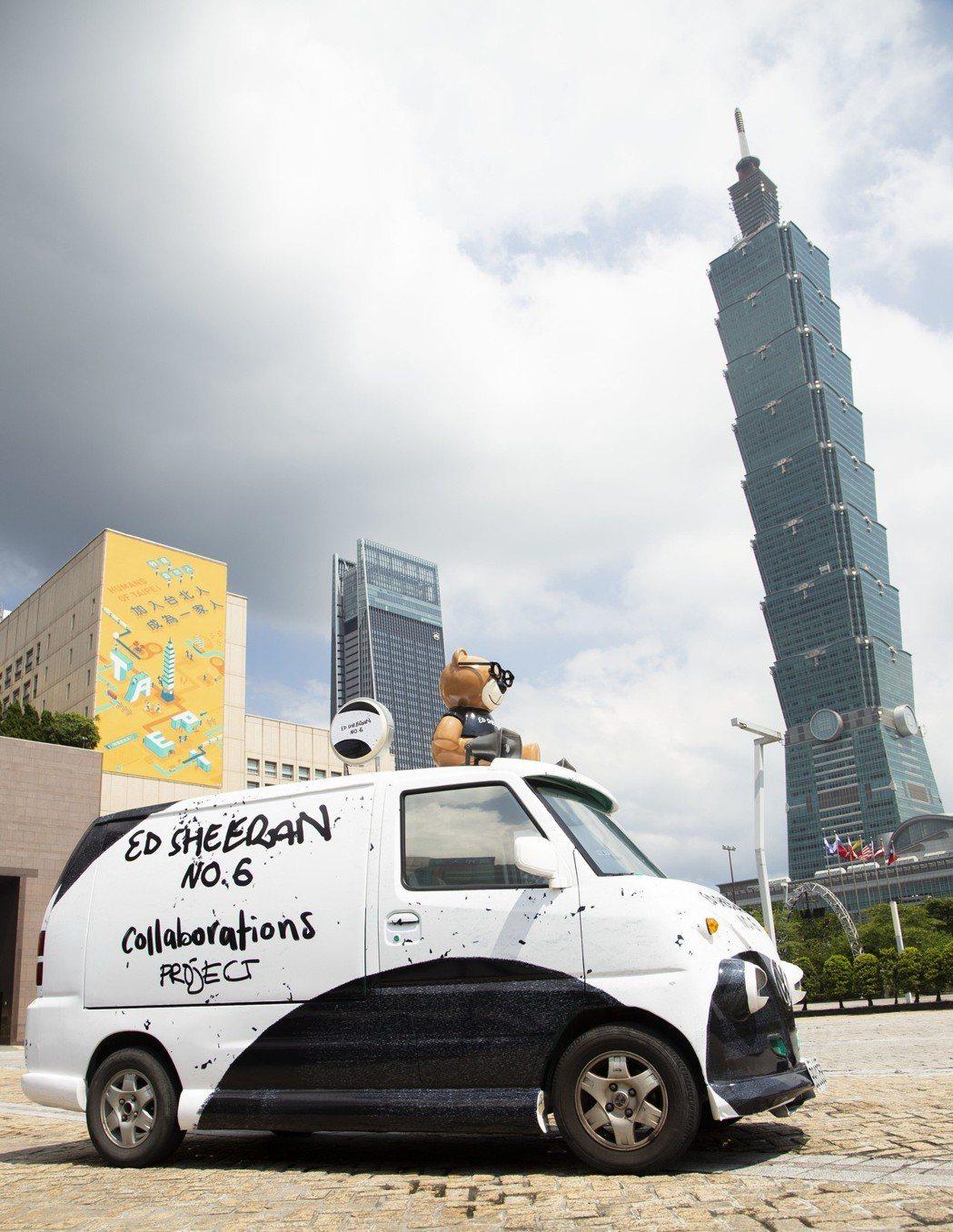 紅髮艾德 NO.6 概念小巴將從6月28日開始繞行台北一個月。圖/華納音樂提供