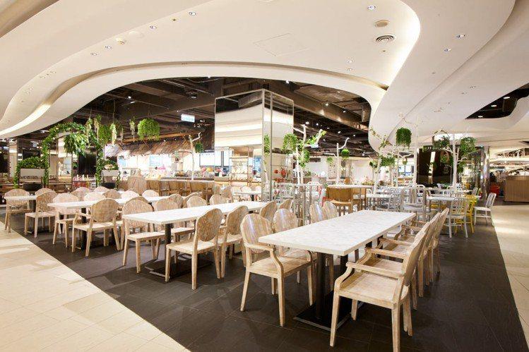 京站B3美食街改裝後,呈現3大主題用餐區域。圖/京站提供