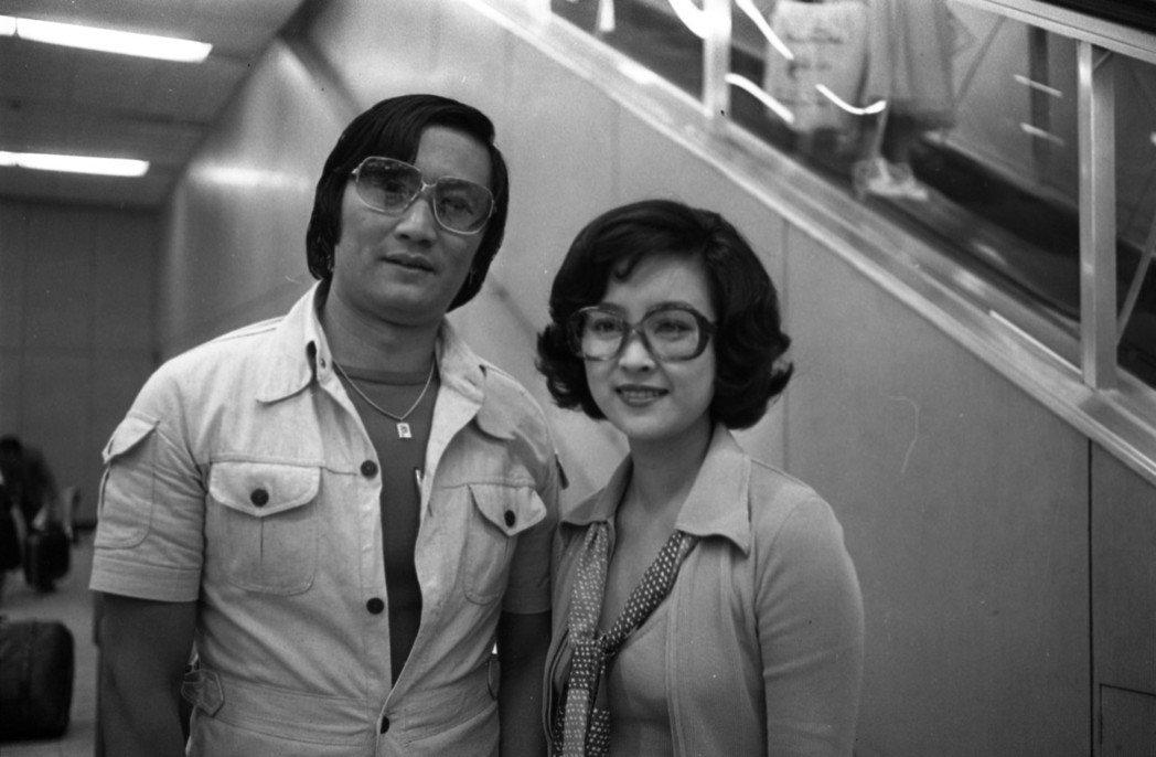謝賢與甄珍曾有過甜蜜的時光。圖/報系資料照片