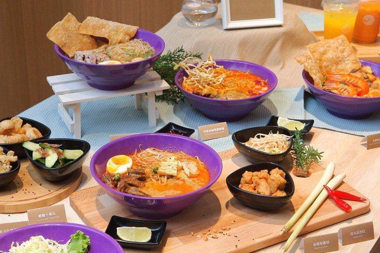 Nara Thai Noodle Bar推出8款麵點、2 款飯食。記者陳睿中/攝...