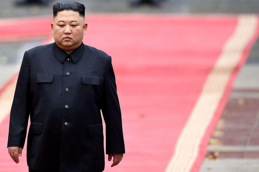北韓領導人金正恩。法新社
