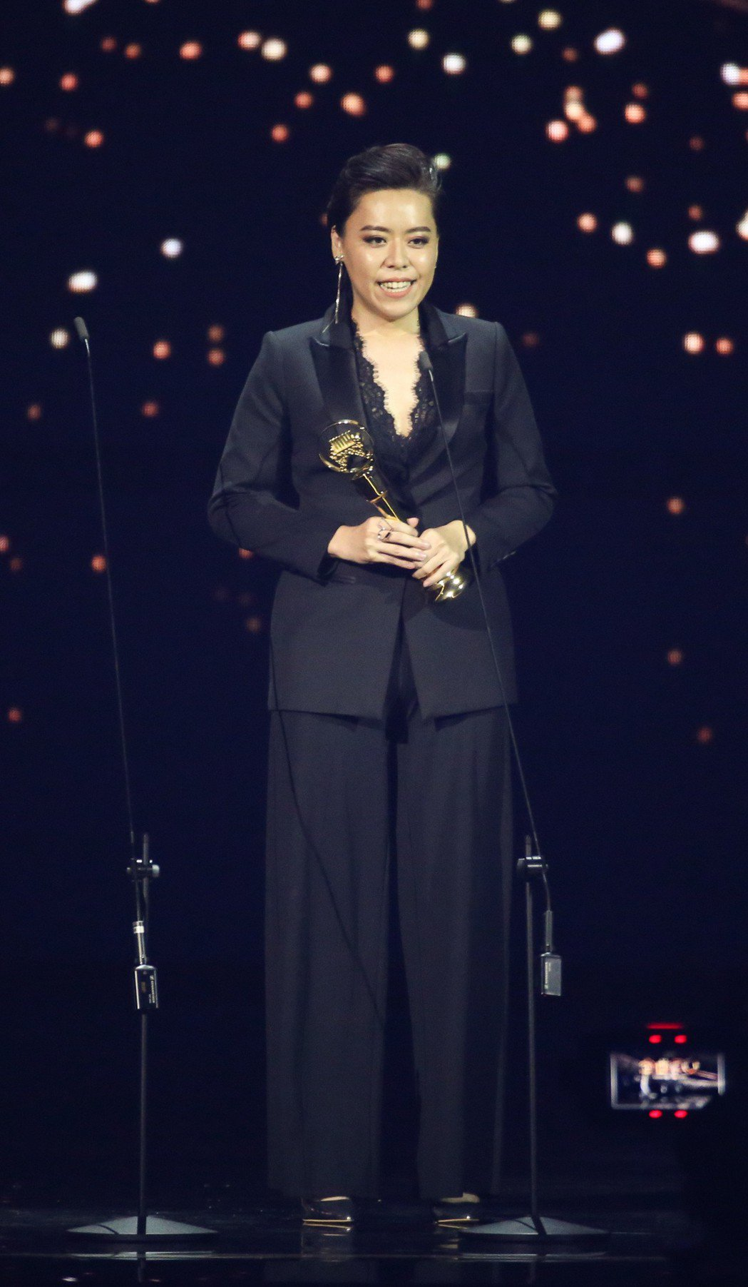金曲最佳台語女歌手獎由江惠儀獲得。記者林伯東/攝影