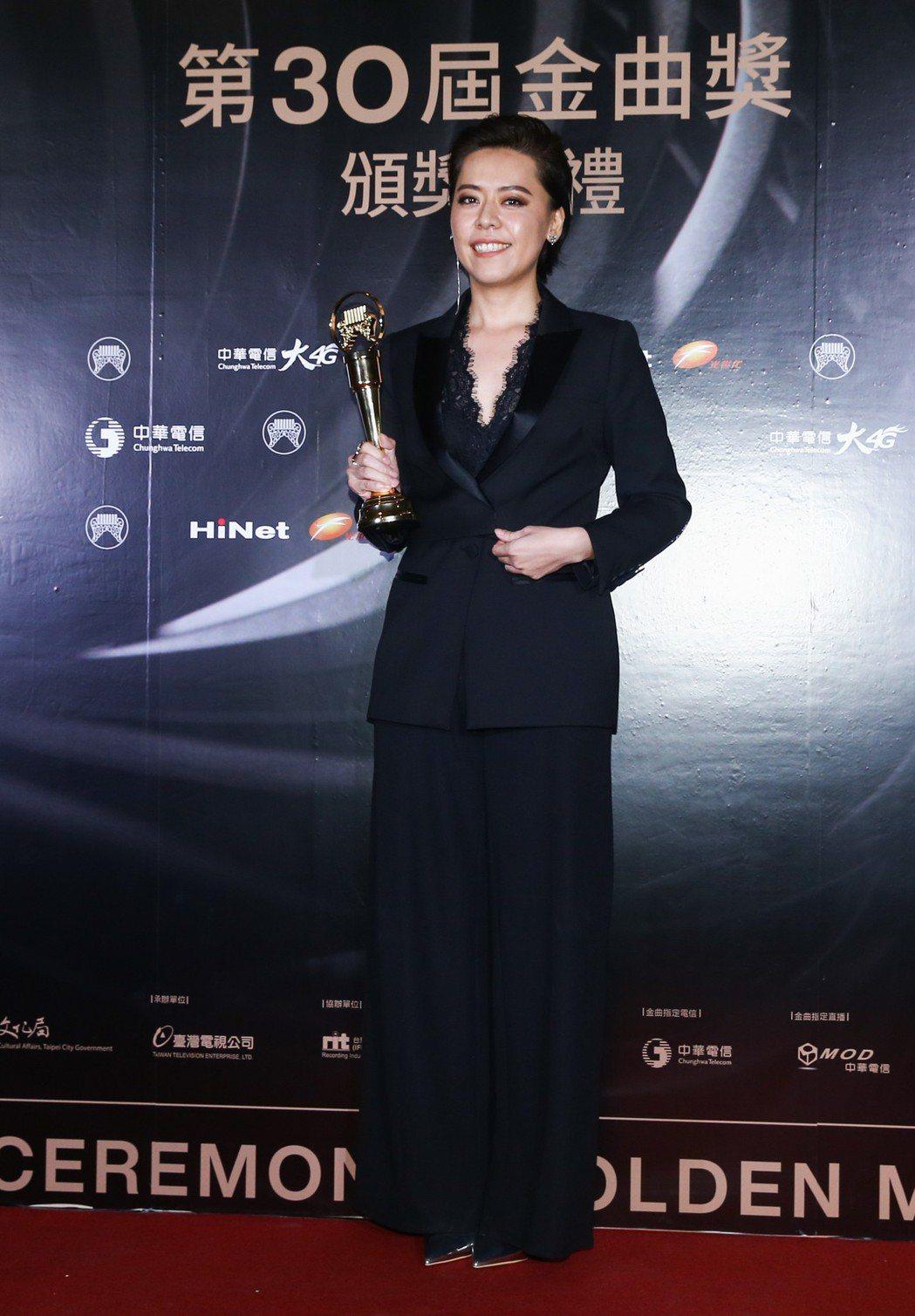 金曲獎最佳台語女歌手獎得主江惠儀。記者曾原信/攝影