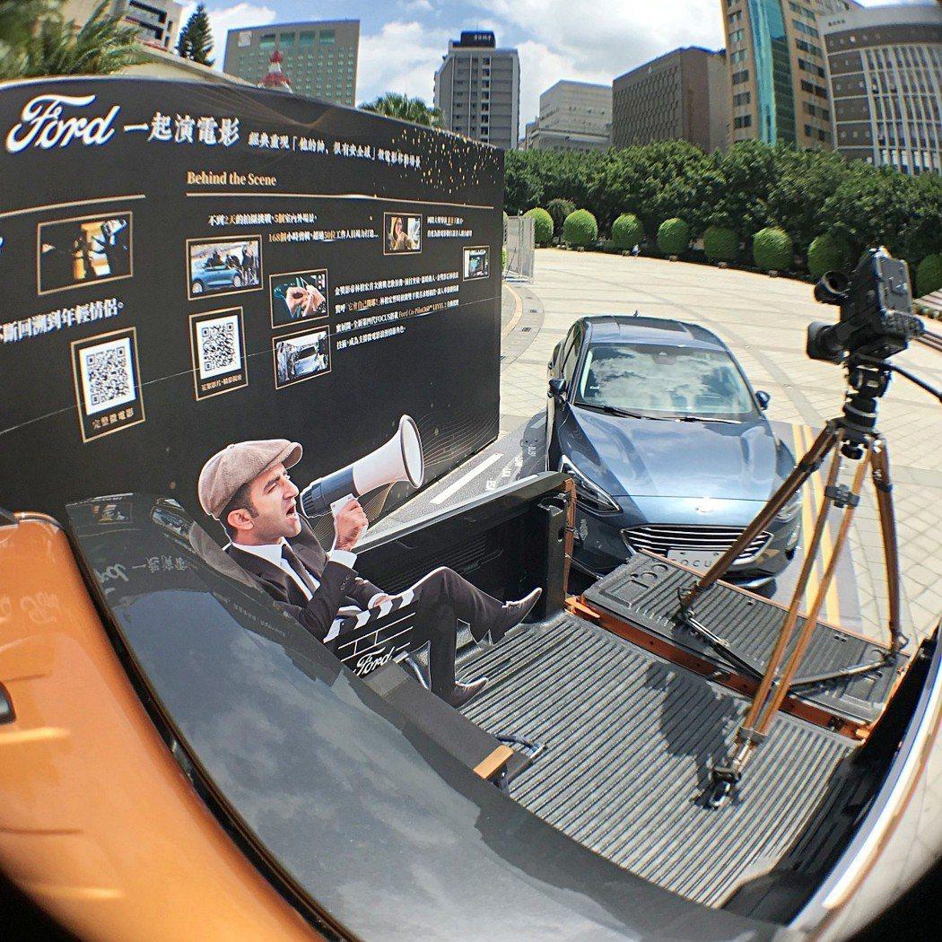 不論是運動休旅皮卡Ford_Ranger的後斗開放式平台模擬劇組拍片的樣子,或挑...