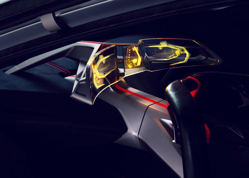 BMW Vision M Next 科技感十足的曲面儀表。 摘自BMW