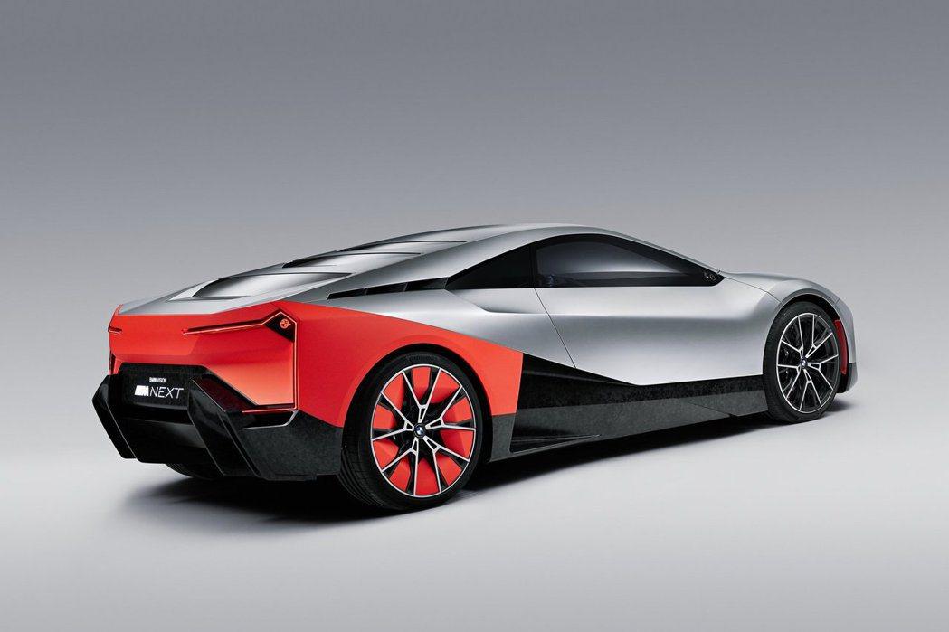 概念車為了突出外型,有時候會配備較大的輪胎。突圍BMW Vision M Nex...