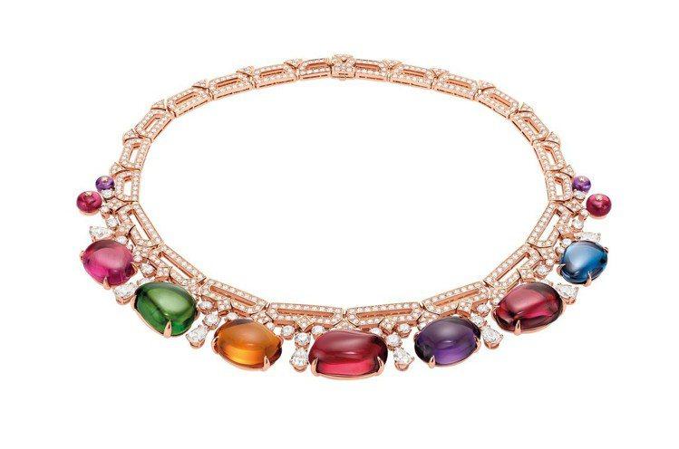 蔡依林配戴的寶格麗頂級彩寶項鍊。圖/寶格麗提供