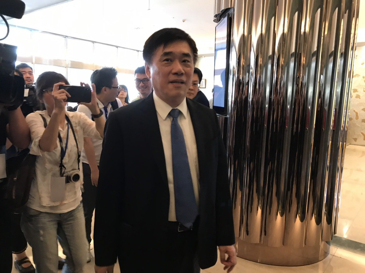 國安人員抱走私菸弊案,國民黨副主席郝龍斌認為蔡英文應負起責任。記者林佩均/攝影
