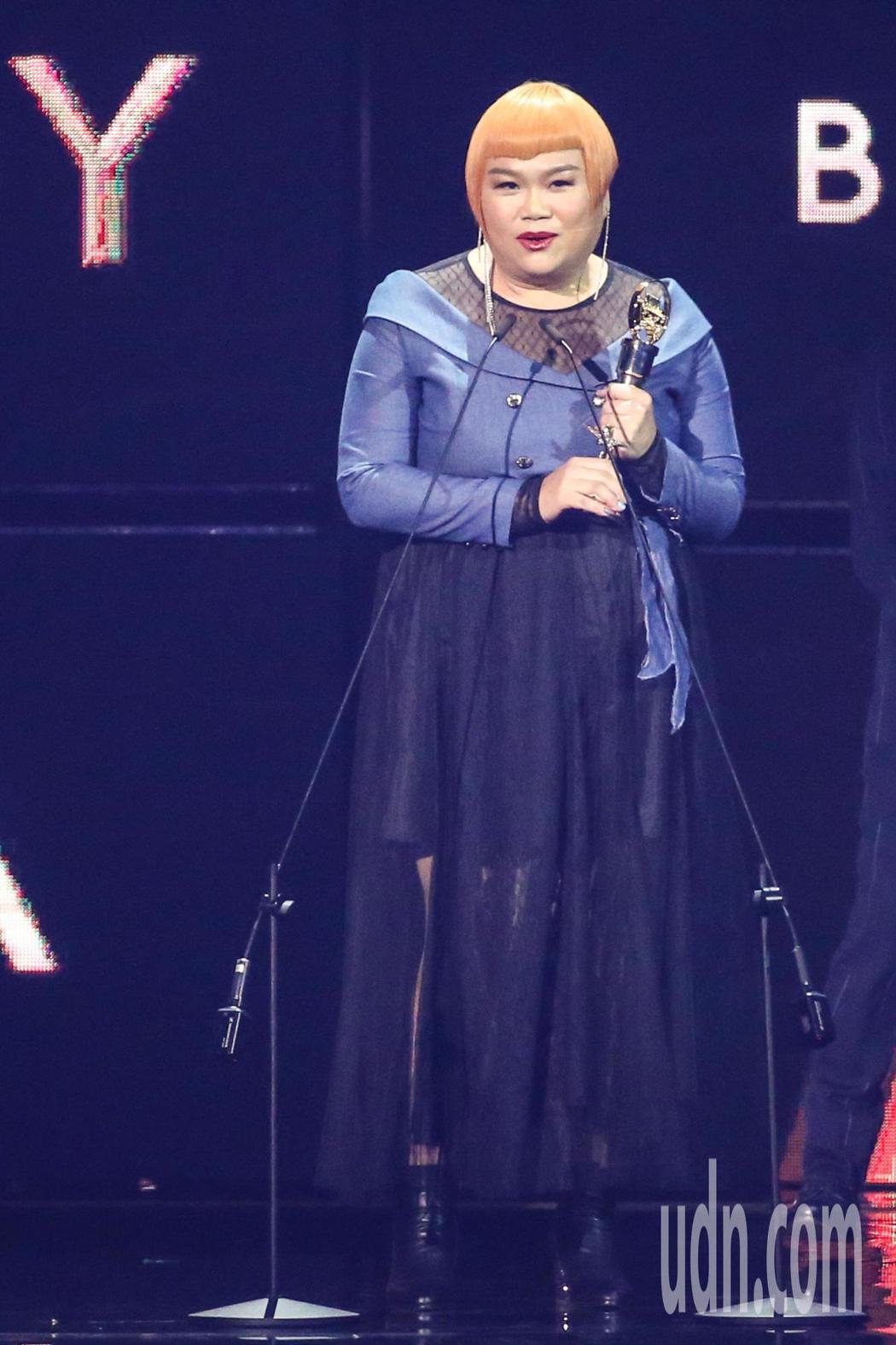 第30屆金曲獎,最佳客語歌手獎由楊淑喻獲得。記者林伯東/攝影