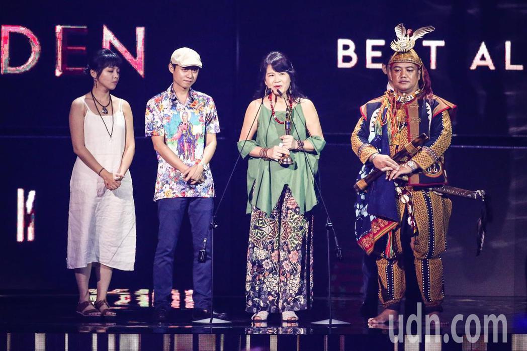 第30屆金曲獎,最佳客語專輯獎由落腳獲得。記者林伯東/攝影