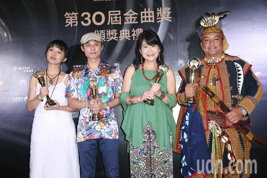 第30屆金曲獎,最佳客語專輯獎由落腳獲得。記者葉信菉/攝影