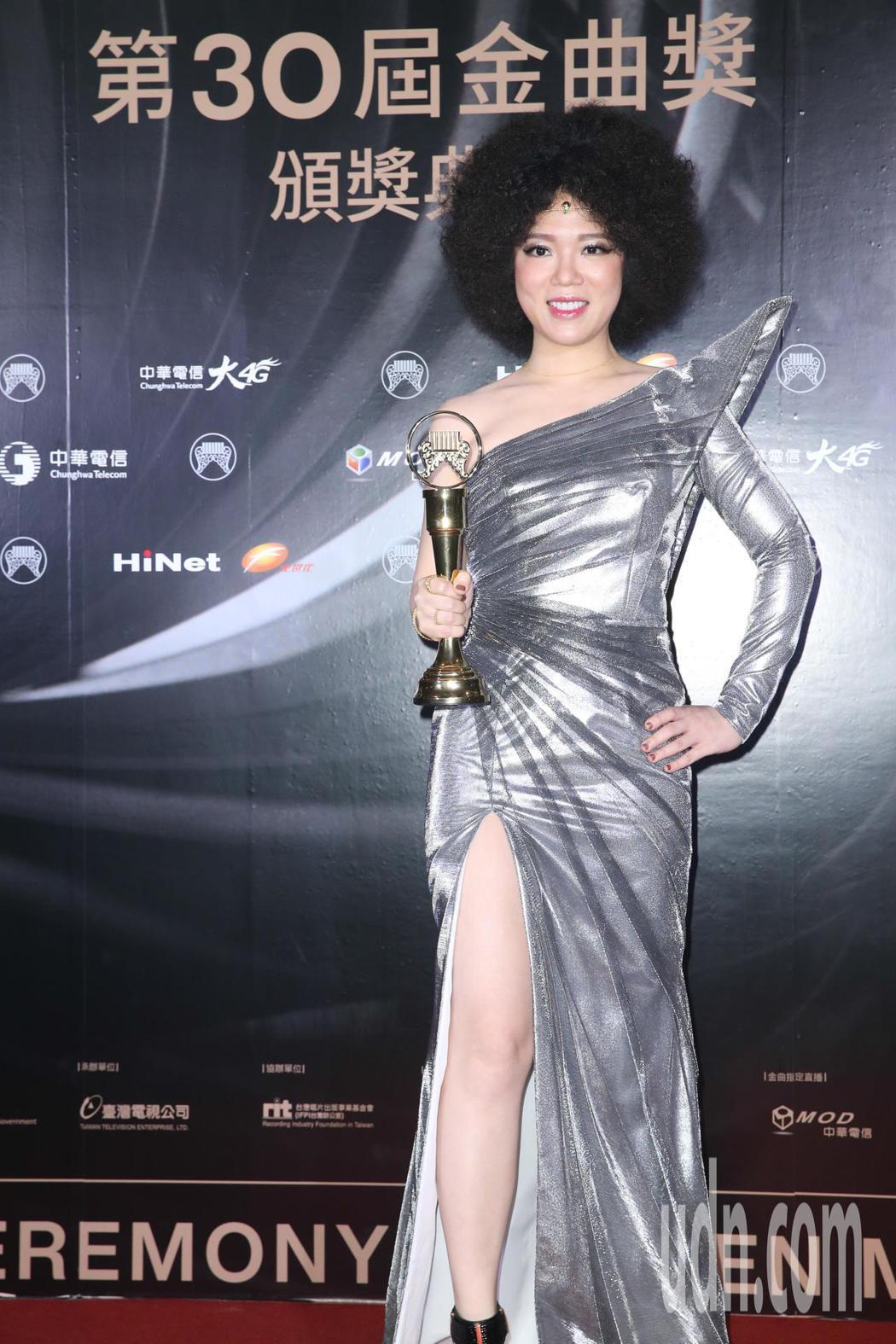 第30屆金曲獎,演奏類最佳作曲人獎由許郁瑛獲得。記者葉信菉/攝影