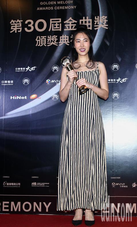 第30屆金曲獎  評審團獎由王若琳獲得。記者曾原信/攝影