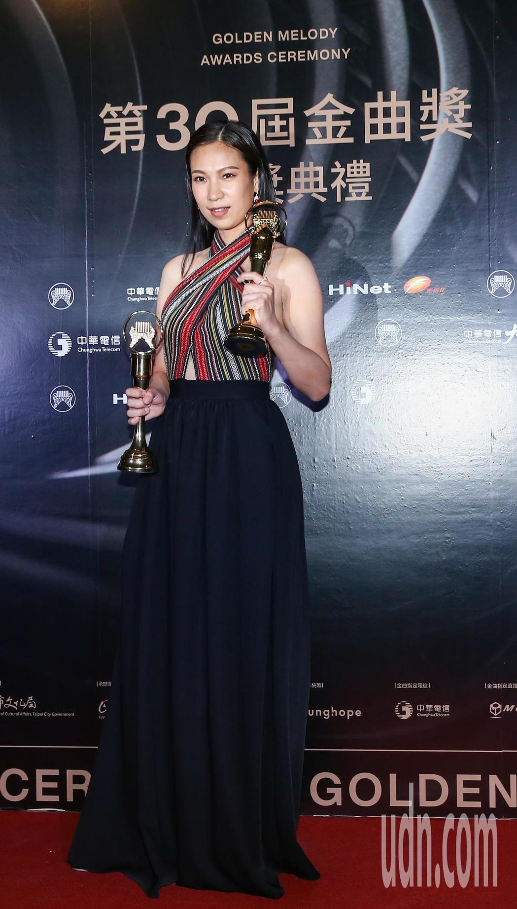 金曲獎最佳原住民歌手獎得主雅維·茉芮。記者曾原信/攝影