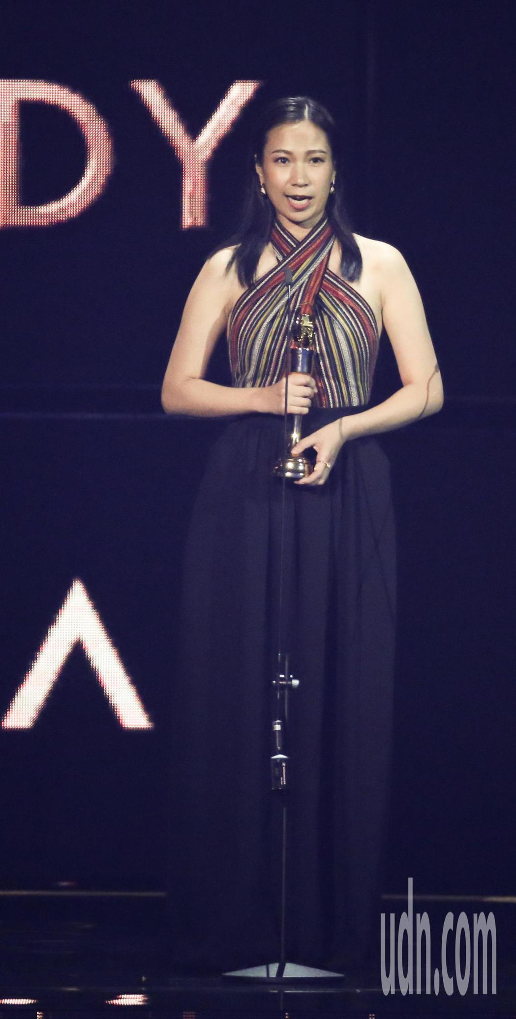 最佳原住民語歌手獎由雅維·茉芮獲得。記者林伯東/攝影