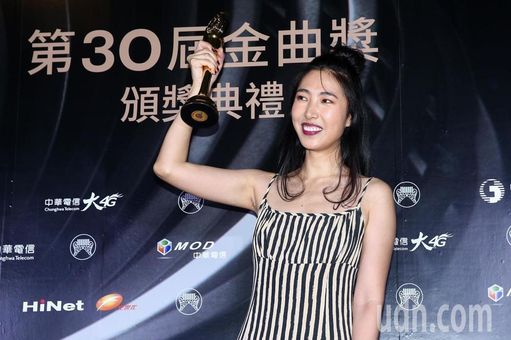 王若琳獲評審團獎意外引發網友對於「星2代獲肯定」的爭議。記者曾原信/攝影