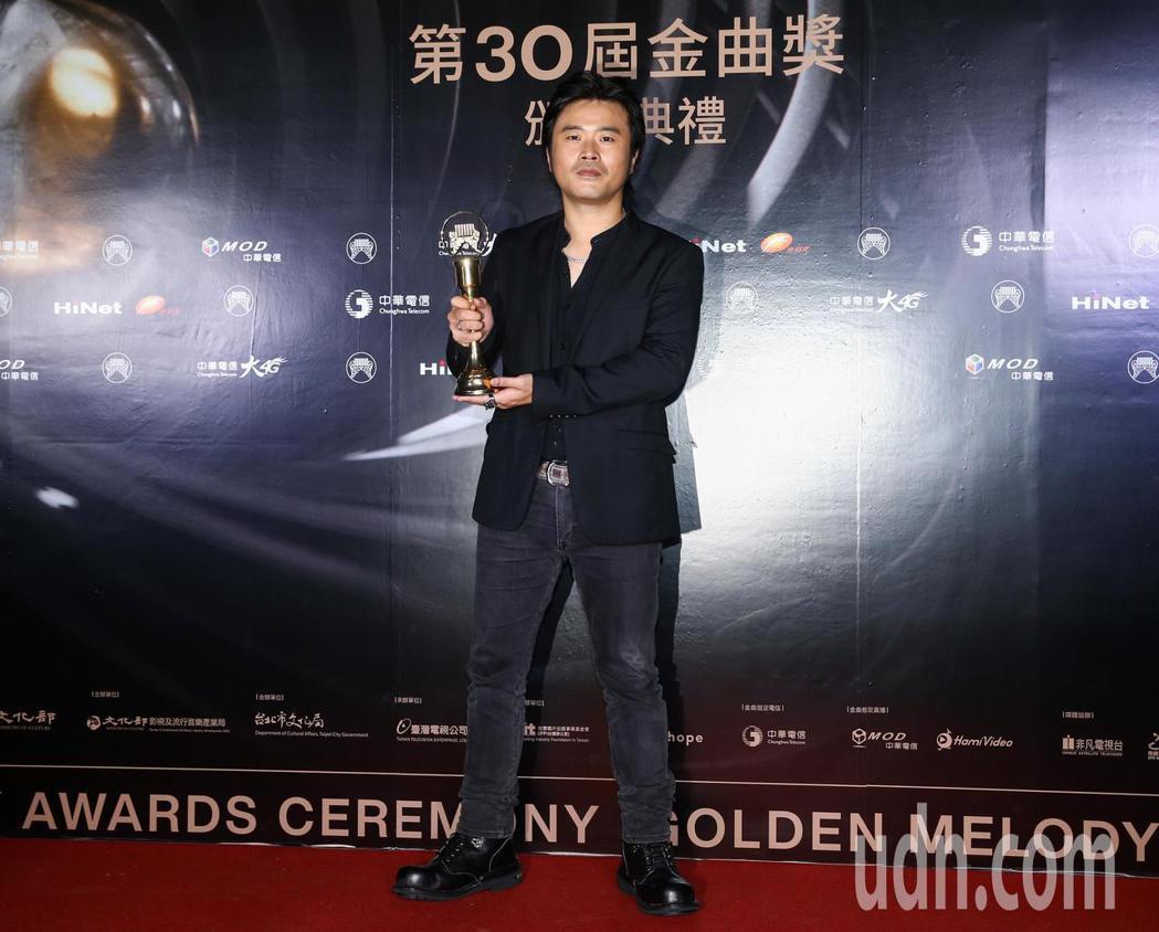 金曲獎最佳台語專輯獎得主為廖士賢。記者曾原信/攝影