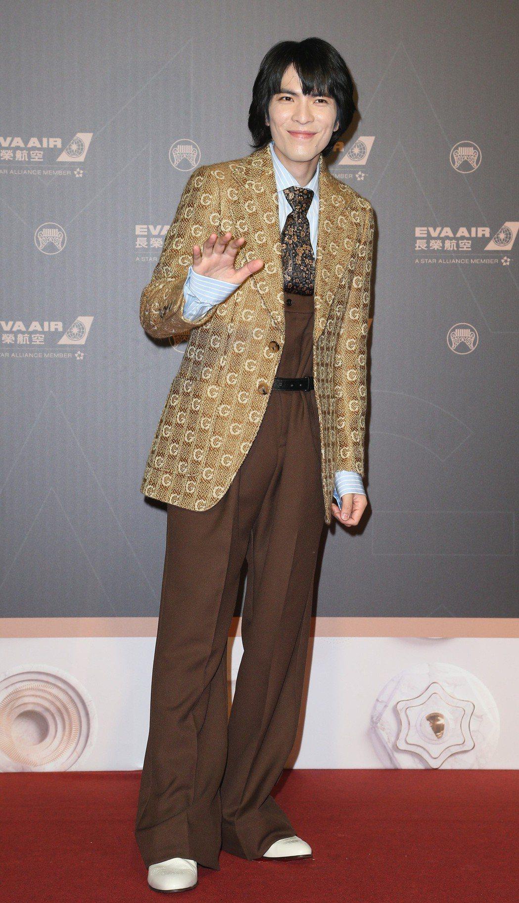 蕭敬騰以GUCCI服裝,搭配Boucheron戒指。記者陳立凱/攝影