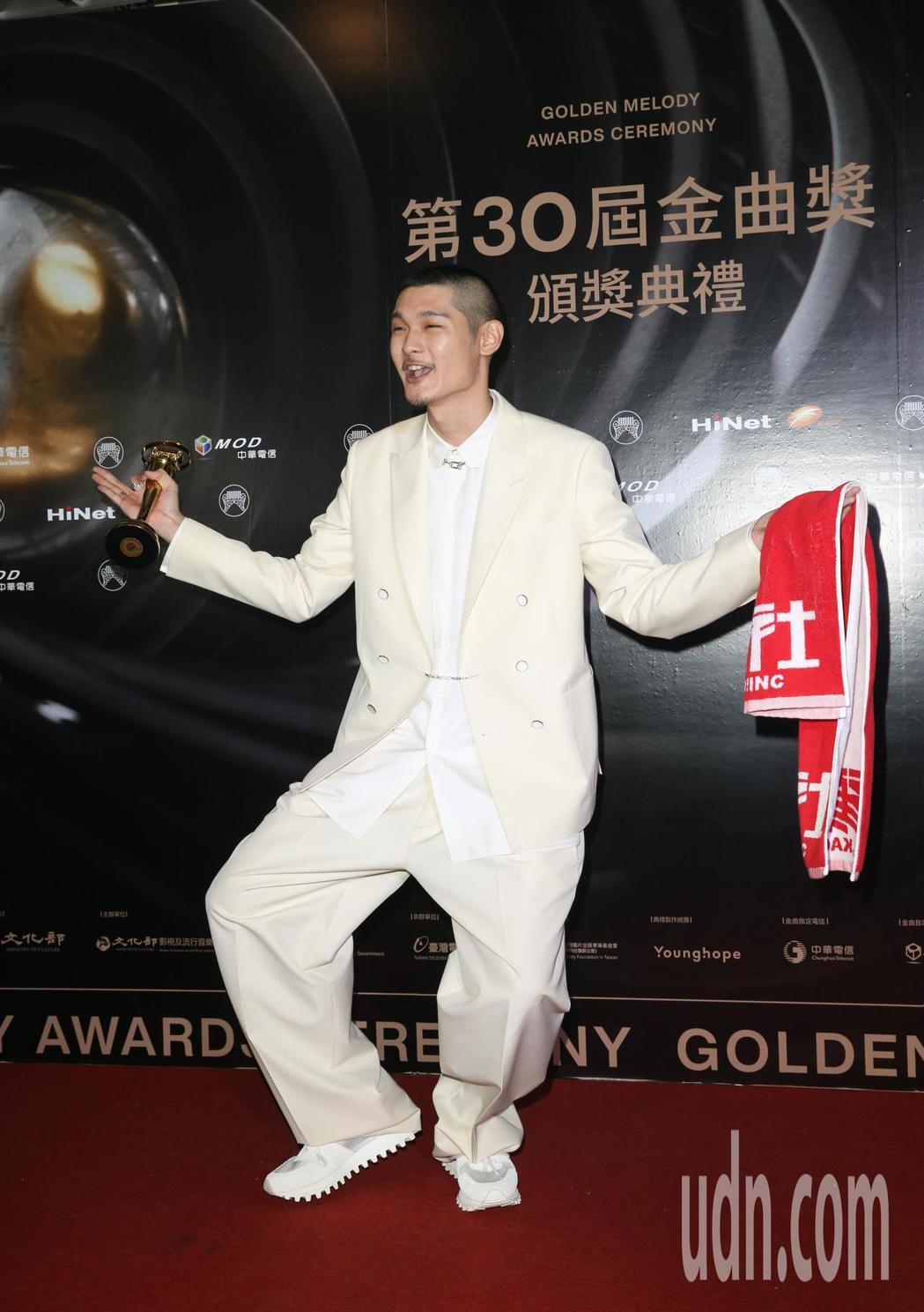 第30屆金曲獎,最佳國語男歌手獎由Leo王獲得。記者葉信菉/攝影