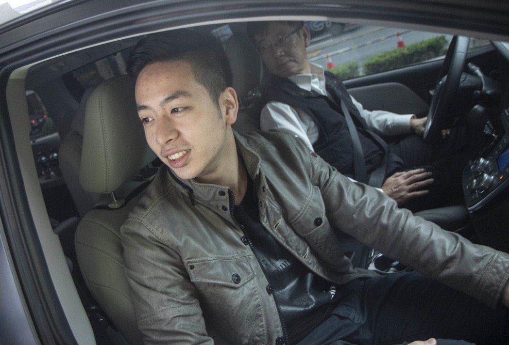 朱立倫兒子朱宣宇,趁暑假回台陪爸爸跑行程。 圖/聯合報系資料照片