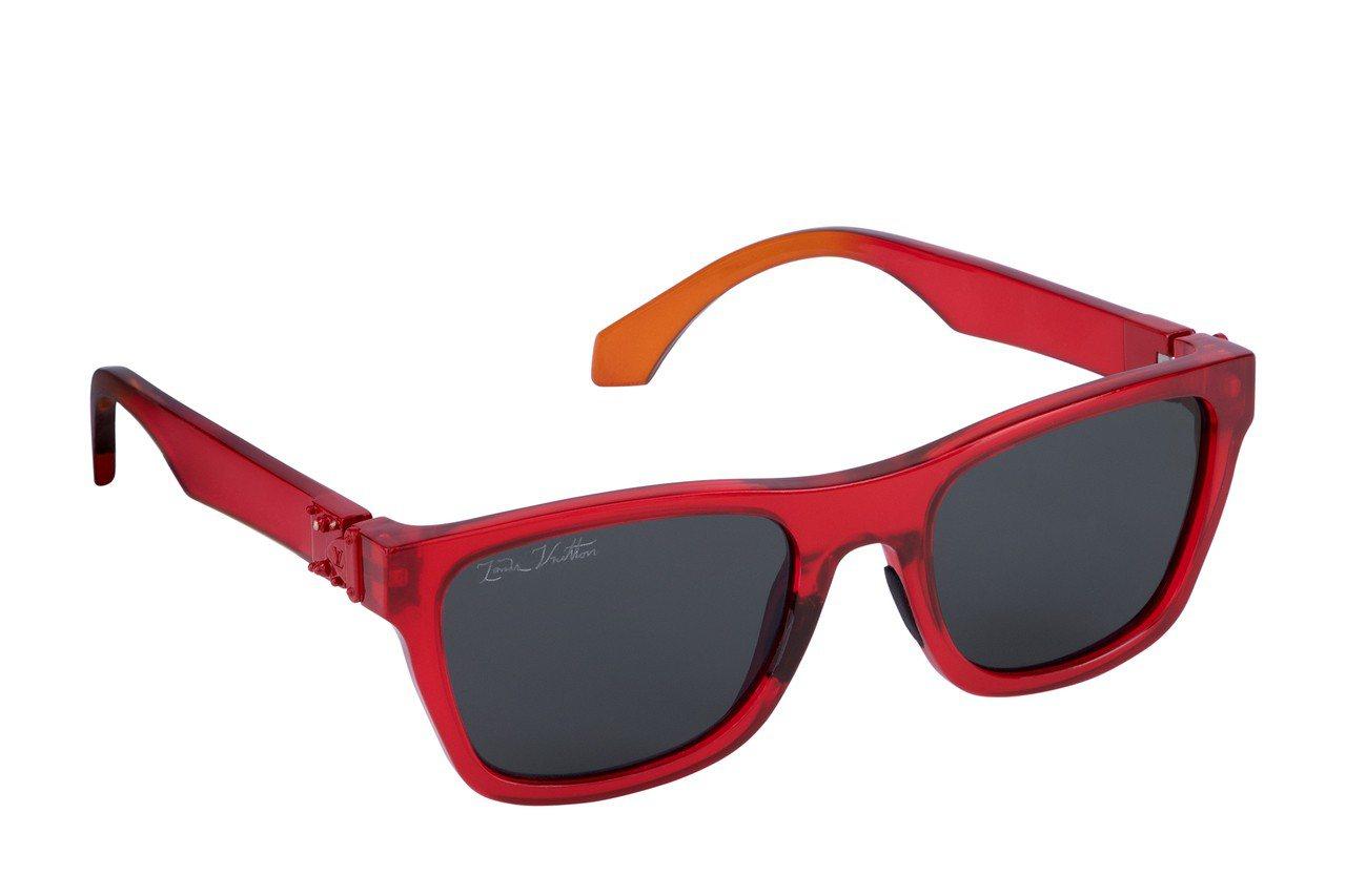 路易威登彩虹系列方型太陽眼鏡,14,500元。圖/Louis Vuitton提供