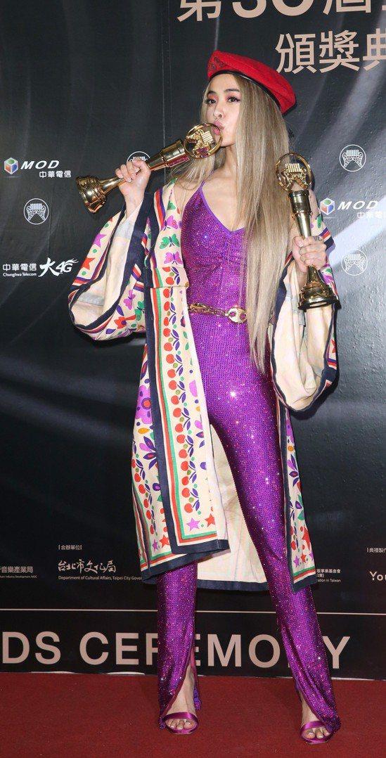 蔡依林「Ugly Beauty」獲得金曲年度專輯獎。記者葉信菉/攝影