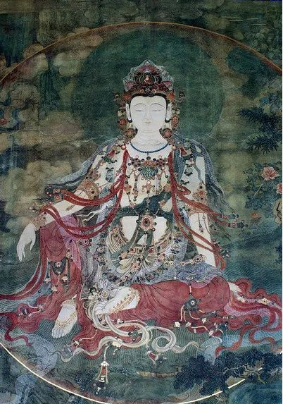 法海寺壁畫「水月觀音」,被北京美術和藝術史系學生列為不可不看的寶藏。 記者賴錦宏...