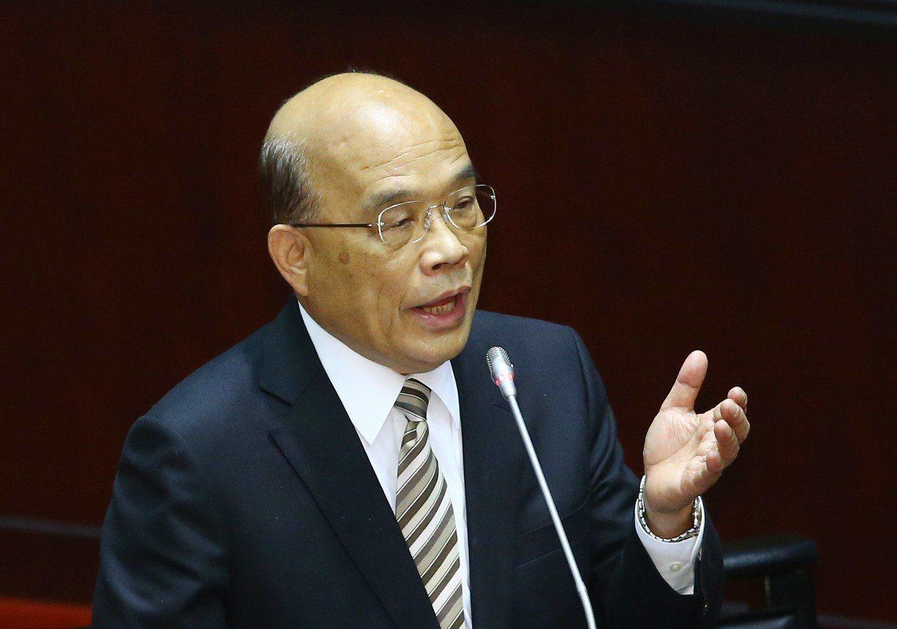 行政院長蘇貞昌。 聯合報系資料照