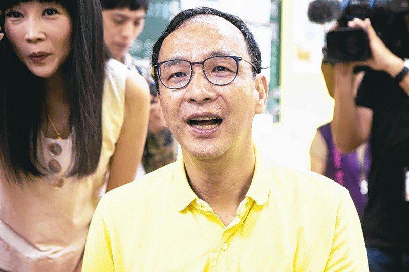 新北前市長朱立倫說,很多郭韓的支持者其實也都支持朱立倫。  記者王敏旭/攝影