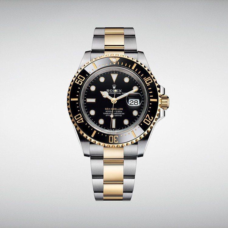 新款Rolex Sea-Dweller,搭配43毫米蠔式錶殼,為此系列首次採用1...