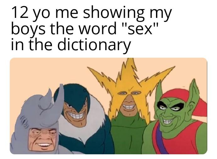 「12歲的我給我的兄弟們看字典裡的「性」這個字」 圖:Reddit