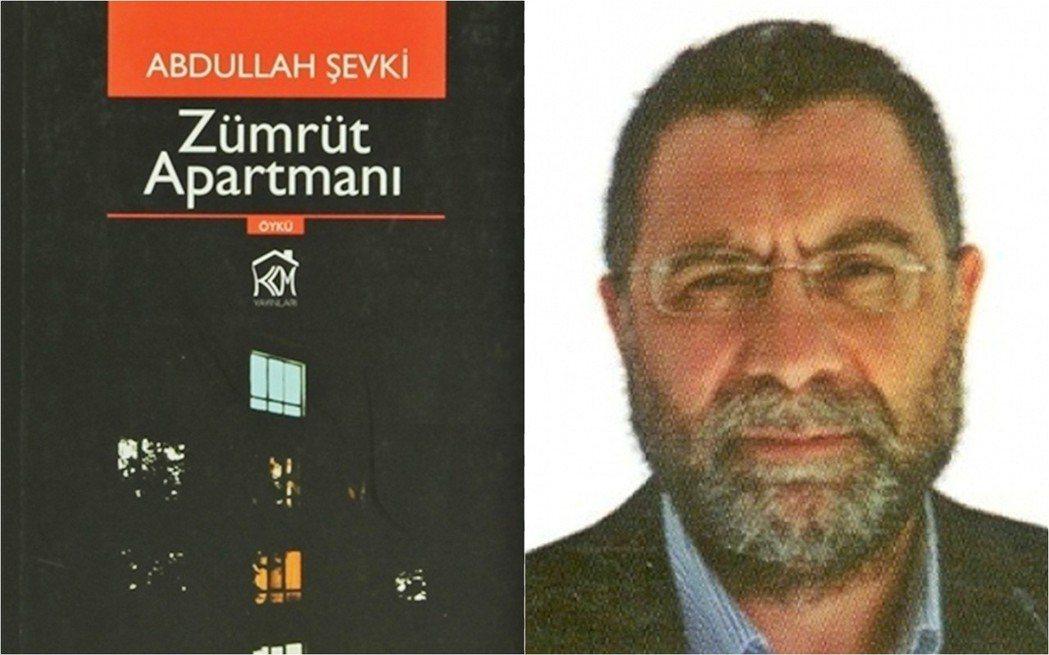 土耳其作家宇特美斯(右)在2013年出版的小說《翡翠公寓》(左),內容描述戀童癖...