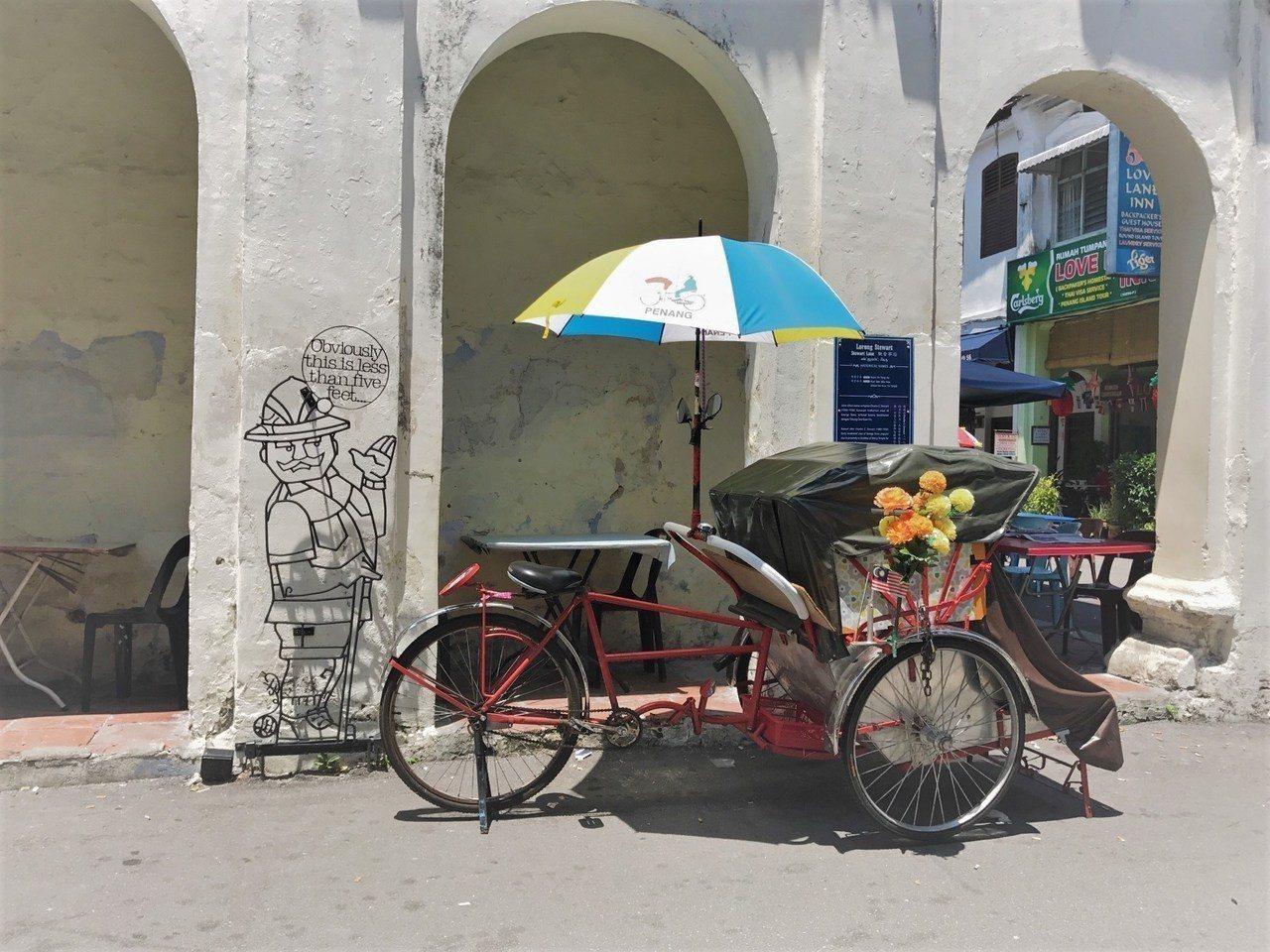 ▲馬來西亞檳城交通推薦-人力三輪車。(圖/Tripbaa趣吧!亞洲自由行專家)