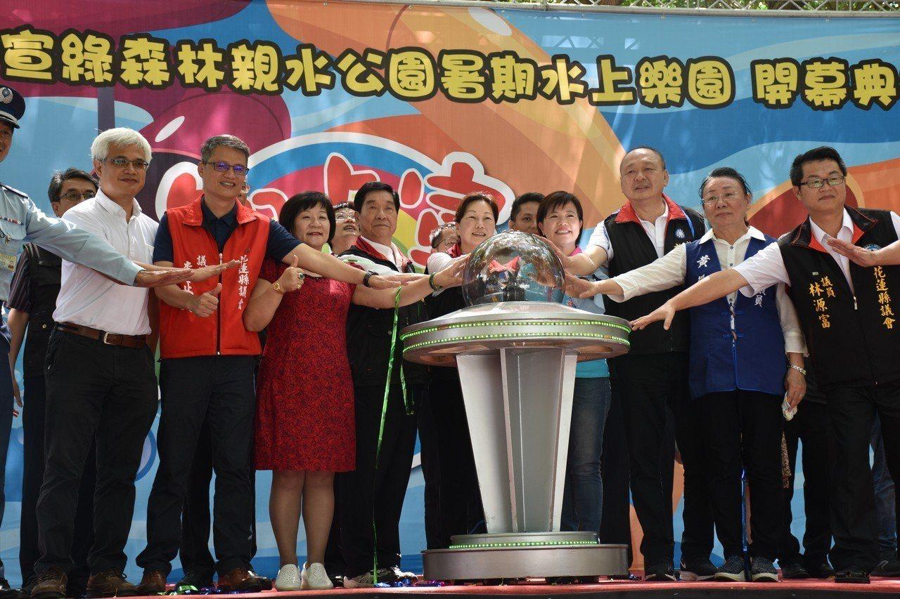知卡宣親水公園今日開幕。記者王思慧/攝影
